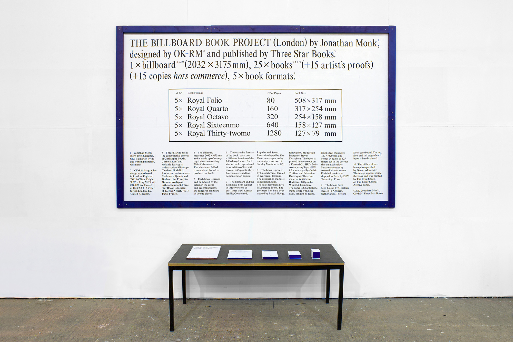 The Billboard Book Project, Jonathan Monk