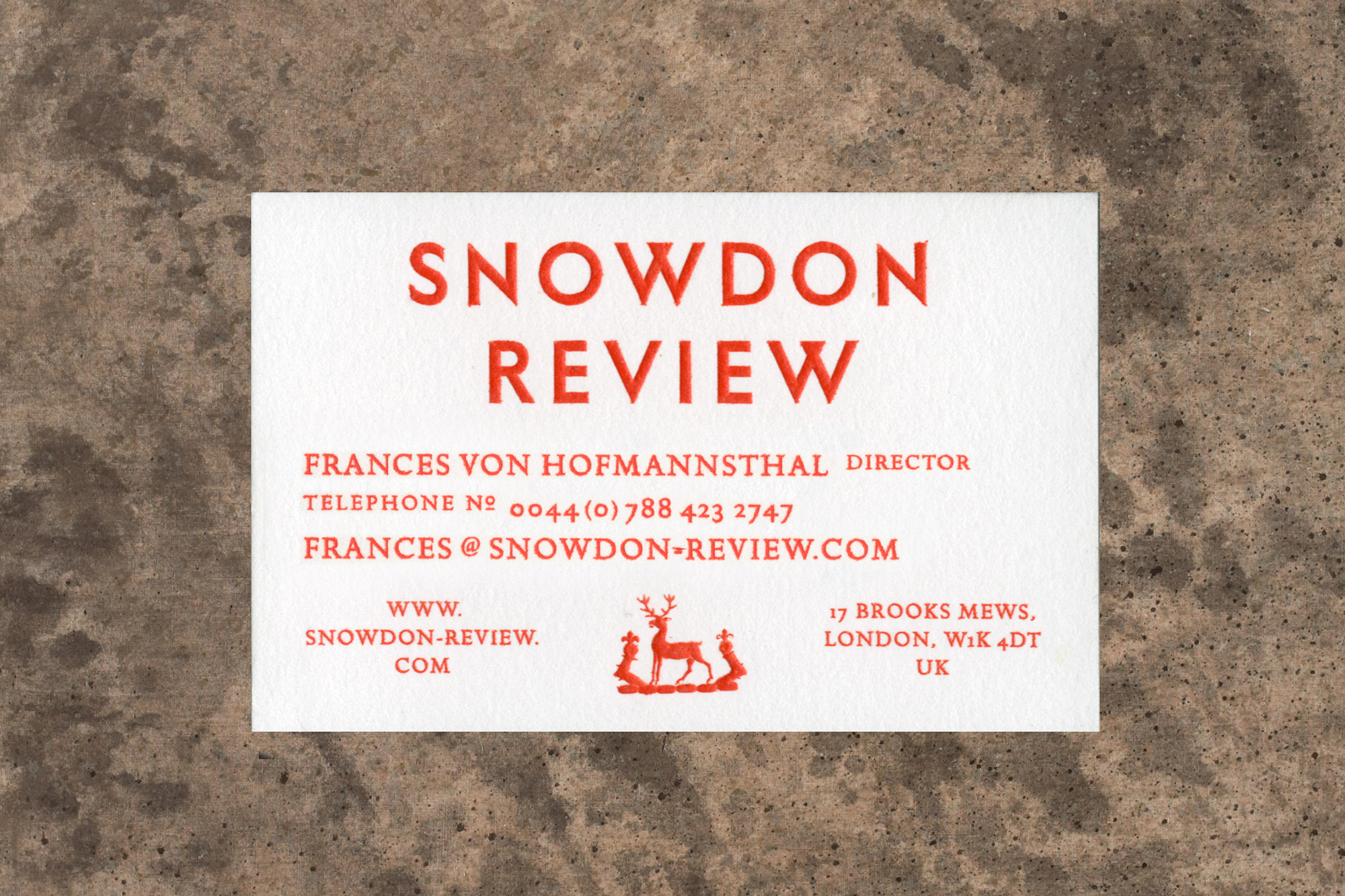 Snowdon Review