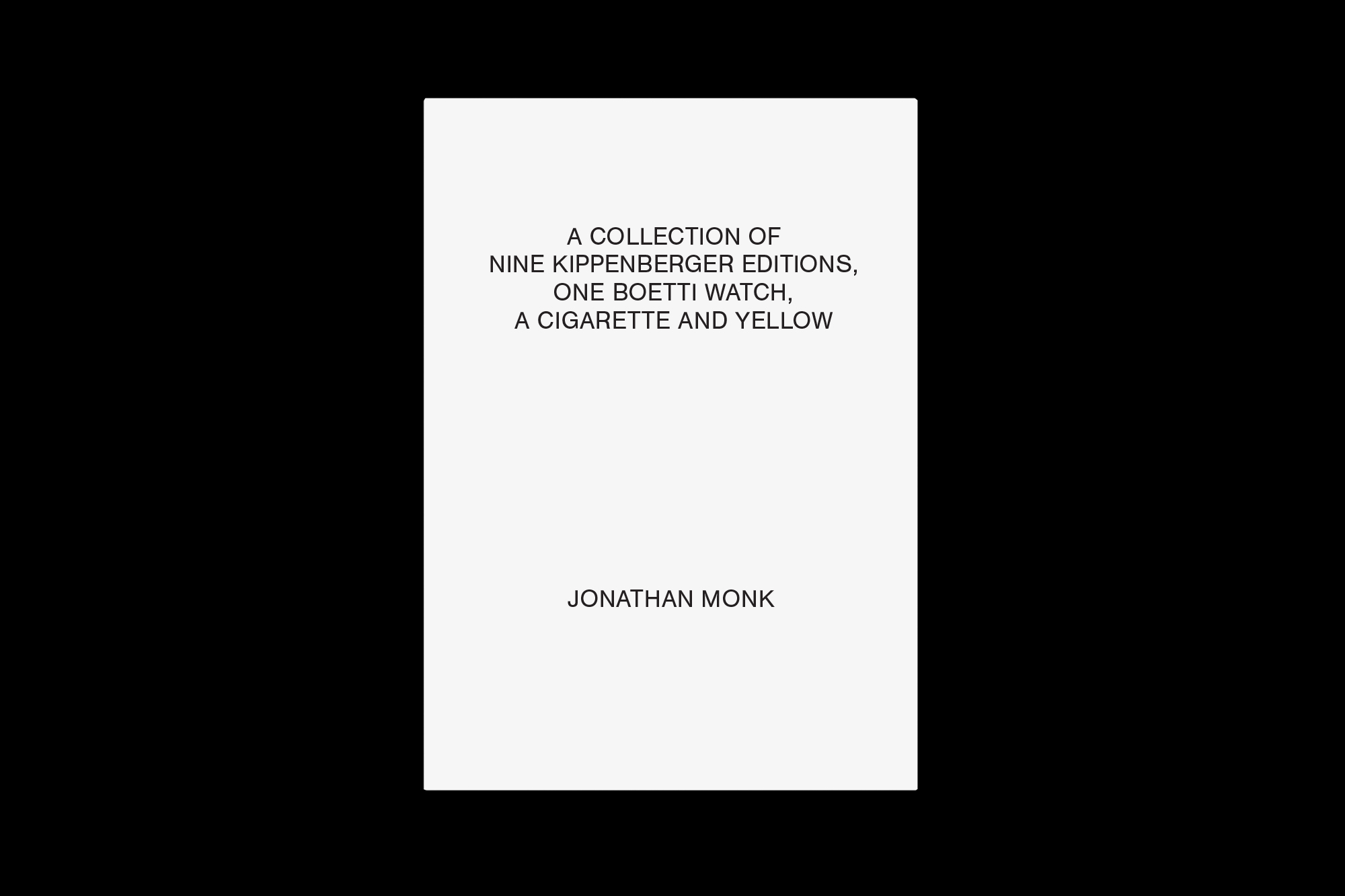 A collection of nine Kippenberger editions (…), Jonathan Monk