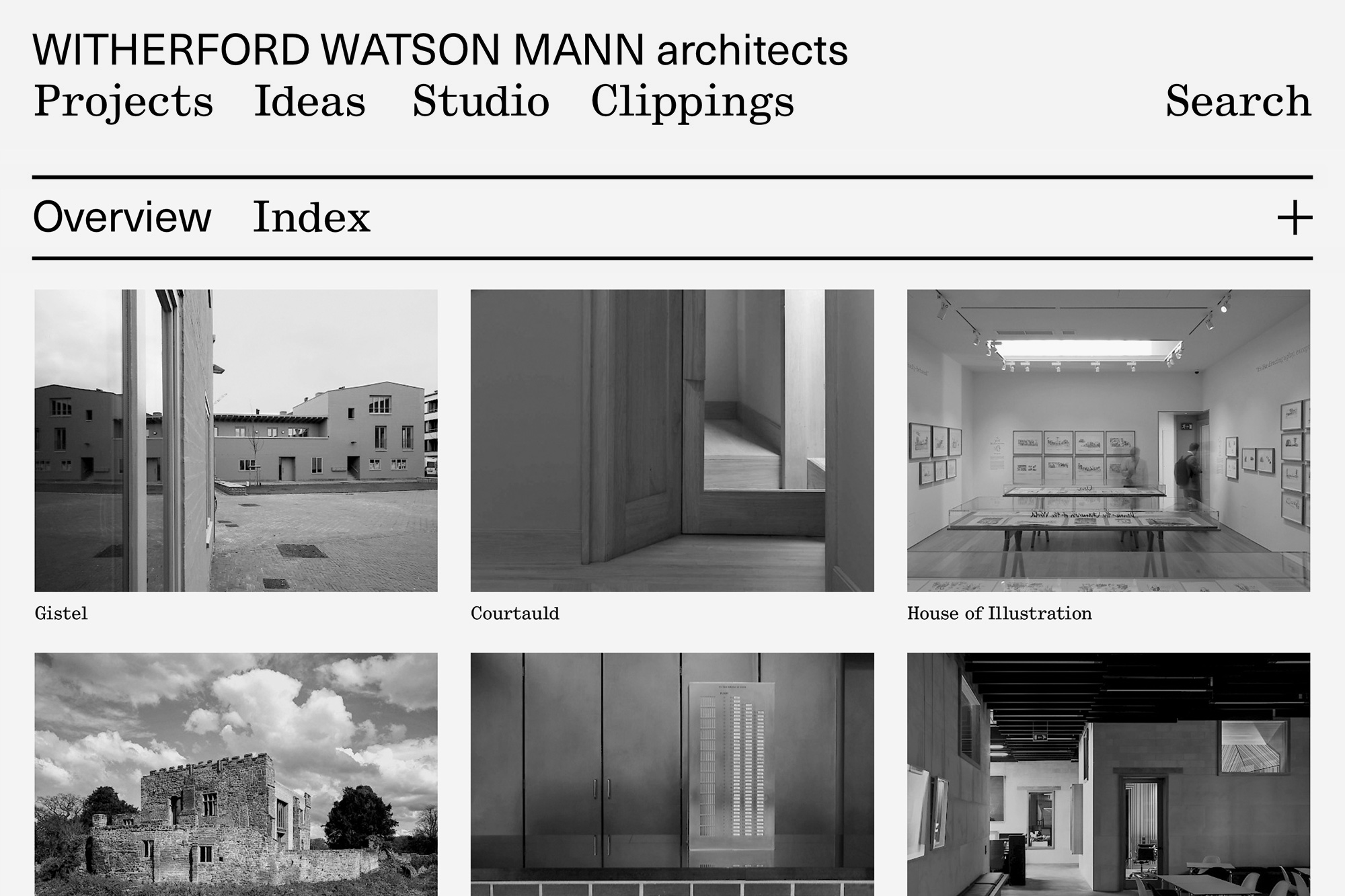 Witherford Watson Mann architects Website